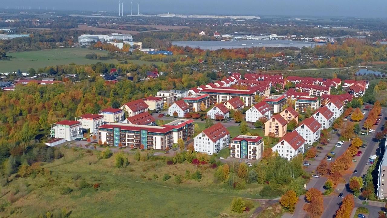 Umgebung mit neuen Gebäuden